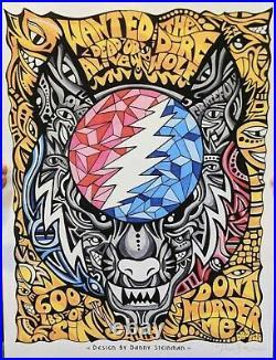 Dire Wolf Signed Print 14 x 18.5 Danny Steinman Poster Grateful Dead