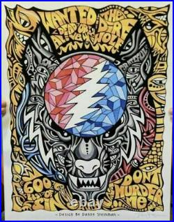 Dire Wolf Signed Print 14 x 18.5 Danny Steinman Poster Grateful Dead IN HAND