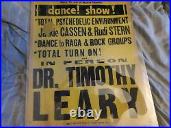 Dr. Timothy Leary Lsd 1960s Not Grateful Dead Dance Boxing Style Concert Poster