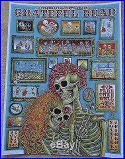 EMEK 2015 VIP Grateful Dead Concert Poster, Fare Thee Well, Flawless 1st Print