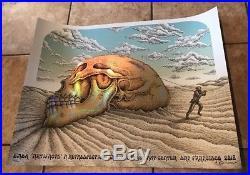 EMEK Artifacts Show Silkscreen Foil Skull Poster Signed'18 Print Doodled