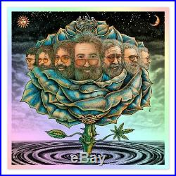 EMEK Bicycle Day 2020 Ice Blue Rose Variant Limited Edition Print Jerry Garcia