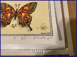 EMEK Dead & Company 2019 VIP Poster Glossy AE #'d /169/200 Signed Doodled Mint