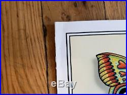 EMEK Dead & Company VARNISHED Signed Doodled Poster Print Butterflies AE #/200