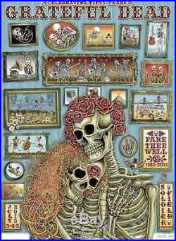 EMEK FARE THEE WELL Grateful Dead Official Poster Artist Edition xx/150