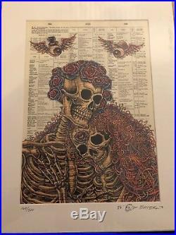 EMEK Grateful Dead Dictionary Signed Doodled Print Poster Pearl Jam Metallica