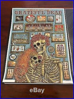 EMEK Grateful Dead GD50 Art Poster Print Chicago San Francisco Levi's Fare Thee