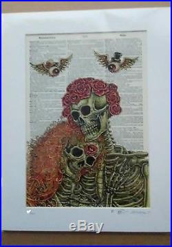 EMEK Grateful Dead GD50 Dictionary Page Art Print Poster TRPS Fare Jerry Garcia