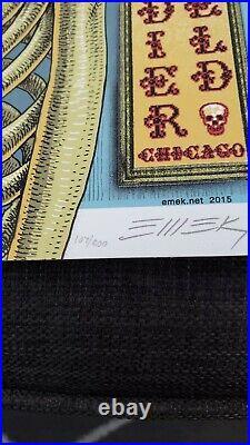 EMEK Grateful Dead GD50 Fare Thee Well VIP Poster xxx/800 Soldier Field Chicago