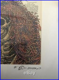 EMEK Print Grateful Dead GD50 Skeletons Dictionary Fare Thee Well
