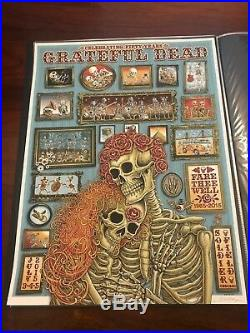 EMEK The Grateful Dead Art Poster Print Chicago Soldier Field Fare Thee Well
