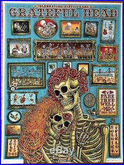 Emek Grateful Dead Chicago'15 Fare Thee Well Artist Proof Pearl Stock Poster