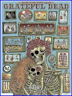 Emek Grateful Dead Fare Thee Well A/E Poster and ticket set. Spusta sperry