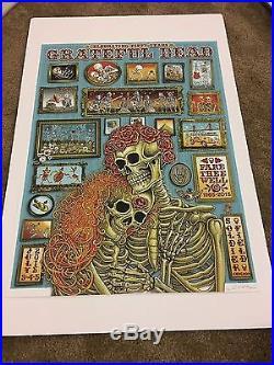 Emek Grateful Dead Fare Thee Well Chicago Poster. Super Rare, LE 212/800