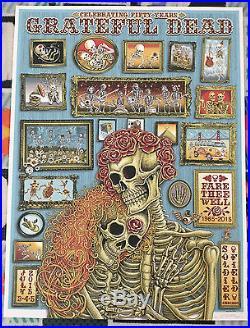 Emek Grateful Dead Fare Thee Well Chicago VIP Poster S/E xxx/800