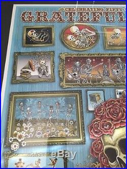 Emek Grateful Dead Poster Print Rare 2015 Fare Thee Well Gd50 Chicago Soldier LE