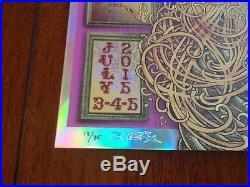 Emek Grateful Dead foil variant poster pristine condition Chicago Jerry Garcia