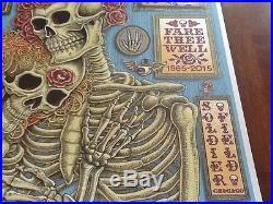 Emek Grateful Dead poster pristine condition Chicago 2015 Jerry Garcia # 150/150