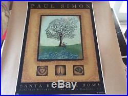 Emek Paul Simon Santa Barbara Velvet Poster Radiohead only 15 copies printed