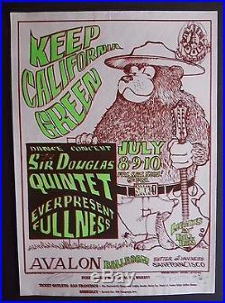 FD-16-OP-1 Mouse/Kelley signed poster BG, AOR, Grateful Dead