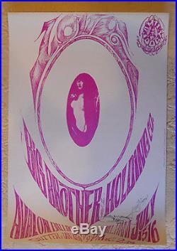 FD-17-A-OP-1 Mouse & Kelley signed poster BG, AOR, Grateful Dead