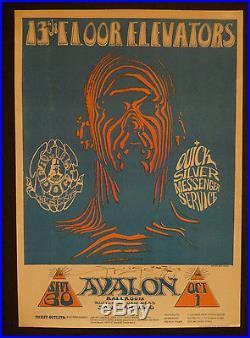 FD-28-OP-1 Stanley Mouse signed poster BG, AOR, Grateful Dead