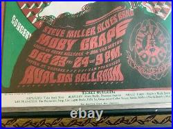 FD 40 Grateful Dead Hippie Santa Claus Original 1966 Concert Handbill Framed