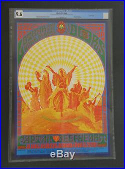 FD-84-OP-1 CGC 9.6 Doors poster BG, AOR, Grateful Dead