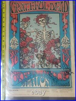 FD26-op3 Grateful Dead Signed Phil Lesh. 66 Avalon ballroom concert