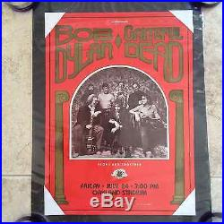 First Printing! Grateful Dead Bob Dylan Oakland Poster Herb Greene Not Mouse