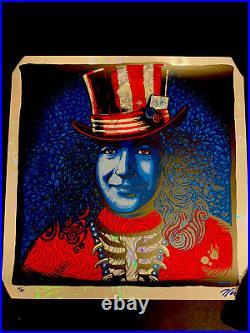 FOIL VARIANT Jerry Garcia Zoltron LE /25 Poster Grateful Dead Print Captain Trip