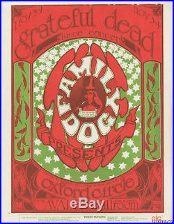 Family Dog 33 Logo Handbill Grateful Dead Oxnard Circle 1966 Nov 4