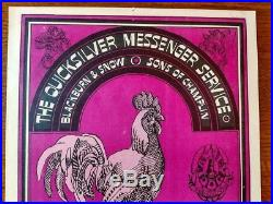 Family Dog Fd032-1 Avalon Ballroom Quicksilver, Victor Moscoso Concert Poster
