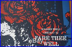 Fare Thee Well 2015 Jimmy Bryant Grateful Dead poster print Chicago, IL