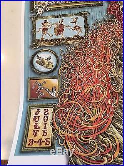 Fare Thee Well 2015 Tour Grateful Dead Original Signed EMEK Poster