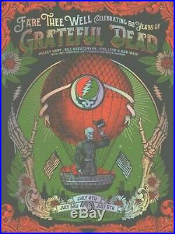 Fare Thee Well GD50 Justin Helton Grateful Dead poster Chicago status serigraph