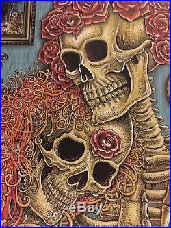 Fare Thee Well Grateful Dead Poster Original EMEK 2015 Free Ship