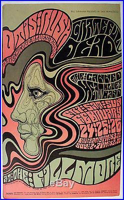 Fillmore West Concert Poster-2nd-Otis Rush, Grateful Dead, Canned Heat-60s-FWPX