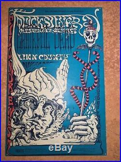Fillmore poster BG-144-OP-1 Quicksilver, Grateful Dead, Linn County 1968