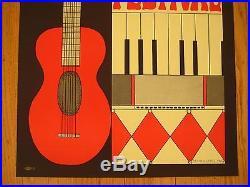 Fillmore poster era Berkeley Folk Festival 1967 Ruth Garbell