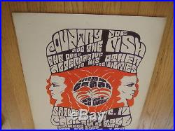 Fillmore poster era Country Joe Calif. Hall 1966 Tom Weller