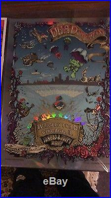 Foil Dead & Company AJ Masthay & Mike DuBois Wrigley Field Chicago Poster