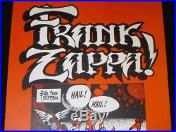 Frank Zappa & Alice Cooper Poster AOR 4.124 Rick Griffin Hail Hail 68 Red