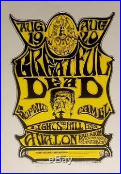 Frankenstein Grateful Dead Fine Art Poster Lithograph Hand Signed Stanley Mouse