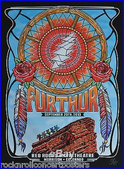 Furthur (grateful Dead) Red Rocks 13 Night 2 1st Edition Poster S/n Mint