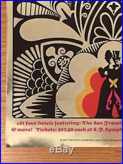 GRATEFUL DEAD 1969 Hilton Hotel Black & White Ball Concert Poster BILL GRAHAM
