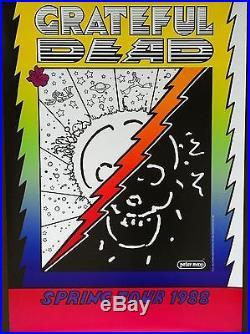 GRATEFUL DEAD 1988 SPRING TOUR Concert Poster PETER MAX