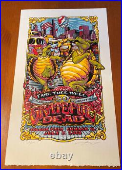 GRATEFUL DEAD AJ MASTHAY FARE THEE WELL Print 7/3/2015 Jerry Garcia Poster