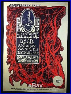 GRATEFUL DEAD (AOR 2.185) 1966 Old Cheesecake Factory Concert Poster