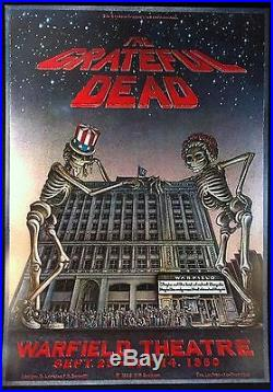 GRATEFUL DEAD (AOR 4.45) 1980 Warfield Concert Poster First Printing